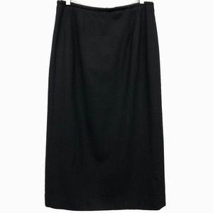 Pendleton Vintage Black 100% Wool Midi Skirt 14